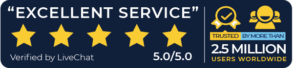 Excellent Service - Verified by LiveChat